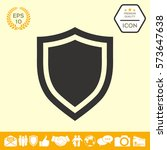 shield. protection icon | Shutterstock .eps vector #573647638