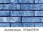 Blue Color Brick Wall Texture....
