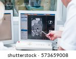 doctors consider and discuss...   Shutterstock . vector #573659008