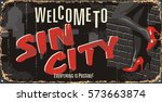 vintage tin city sign....