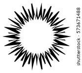 asymmetric edgy circular shape... | Shutterstock .eps vector #573671488