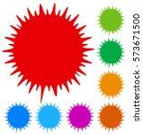 asymmetric edgy circular shape...   Shutterstock .eps vector #573671500