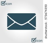 flat  icon of letter.mail icon. ...