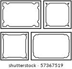 set of vector decorative... | Shutterstock .eps vector #57367519