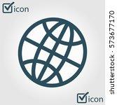 globe icon. flat design style...