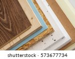stack of various construction... | Shutterstock . vector #573677734
