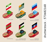 set of isometric 3d ships with... | Shutterstock .eps vector #573682168