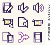 audio video moble icons  sound... | Shutterstock .eps vector #573684730