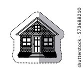 black contour silhouette... | Shutterstock .eps vector #573688210
