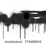 white and black spray shape  | Shutterstock . vector #573688543
