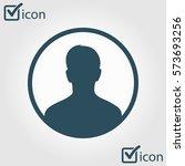 user sign icon. person symbol.... | Shutterstock .eps vector #573693256