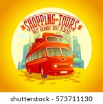 best shopping tours design with ... | Shutterstock .eps vector #573711130