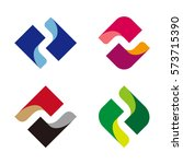 abstract vector wave logo... | Shutterstock .eps vector #573715390