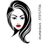 illustration of women long hair ... | Shutterstock .eps vector #573717736