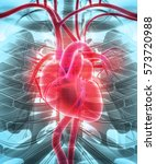 3d illustration of heart   part ... | Shutterstock . vector #573720988