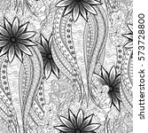 tracery seamless calming... | Shutterstock .eps vector #573728800