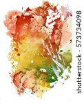 colorful watercolor abstract... | Shutterstock . vector #573734098