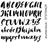 hand drawn font made by dry...   Shutterstock .eps vector #573734629