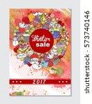 winter mobile sale banner. | Shutterstock .eps vector #573740146