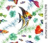 watercolor seamless pattern of... | Shutterstock . vector #573741598