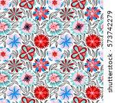floral seamless pattern.... | Shutterstock .eps vector #573742279