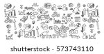 start up icon set  hand drawing ... | Shutterstock .eps vector #573743110