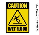 wet floor caution warning sign | Shutterstock .eps vector #573746713