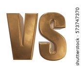 versus logo. vs letters. 3d... | Shutterstock . vector #573747370