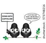 comical anti capitalism... | Shutterstock .eps vector #573748216