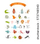 vector english alphabet for... | Shutterstock .eps vector #573748540