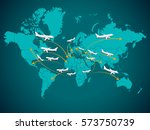 flights from africa  flights to ... | Shutterstock .eps vector #573750739