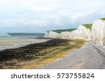 Rock Beach With A White Cliffs...