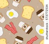 morning breakfast seamless... | Shutterstock .eps vector #573772534