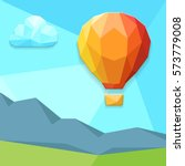 balloon in the background ... | Shutterstock .eps vector #573779008