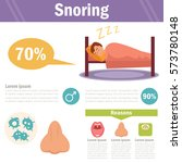 snoring. vector art on a white... | Shutterstock .eps vector #573780148