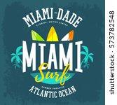 atlantic ocean sign with... | Shutterstock .eps vector #573782548