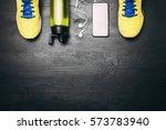 sports equipment   sneakers ... | Shutterstock . vector #573783940