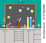 laboratory equipment  jars ... | Shutterstock .eps vector #573786088