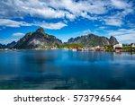 lofoten islands is an... | Shutterstock . vector #573796564