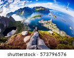 first person perspective shot... | Shutterstock . vector #573796576