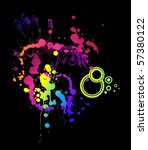 grunge abstract background with ... | Shutterstock .eps vector #57380122