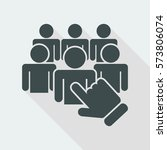 staff selection icon | Shutterstock .eps vector #573806074