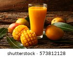 delicious juicy smoothie with... | Shutterstock . vector #573812128