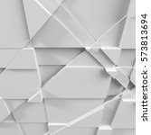 geometric white abstract... | Shutterstock . vector #573813694
