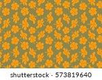 aloha hawaiian shirt seamless... | Shutterstock . vector #573819640