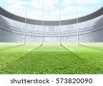 a generic seated aussie rules... | Shutterstock . vector #573820090