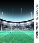 a generic seated aussie rules... | Shutterstock . vector #573820243