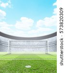 a generic seated soccer stadium ... | Shutterstock . vector #573820309