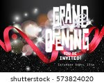 grand opening background with... | Shutterstock .eps vector #573824020