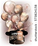 vector birthday background with ... | Shutterstock .eps vector #573824158